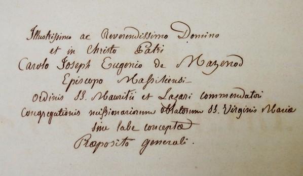 Ecriture de Saint Eugène de Mazenod
