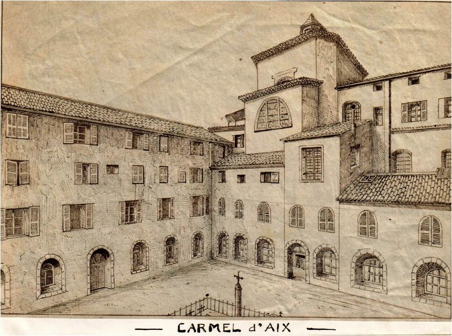 Ancien Carmel d'Aix, dès 1815 lieu des rencontres de la Congrégation de la jeunesse chrétienne