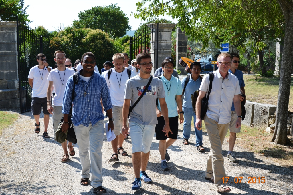 The Scholastics during their visit to Saint Laurent du Verdon