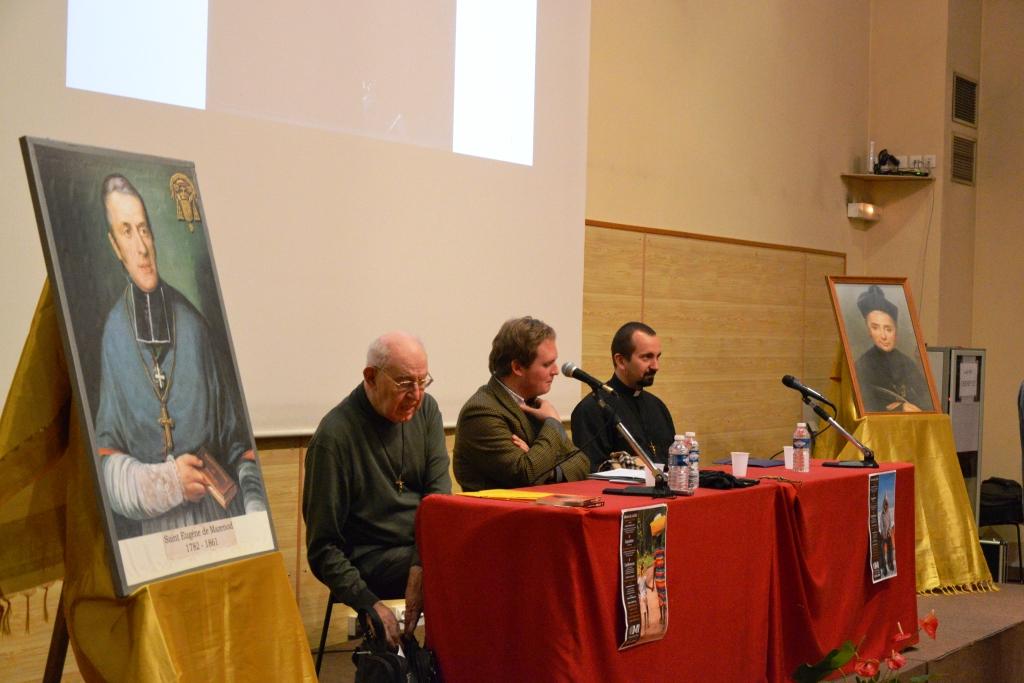 (de gauche à droite) P. Michel COURVOISIER, Mr Alexandre MAHUE, P. Paweł ZAJĄC