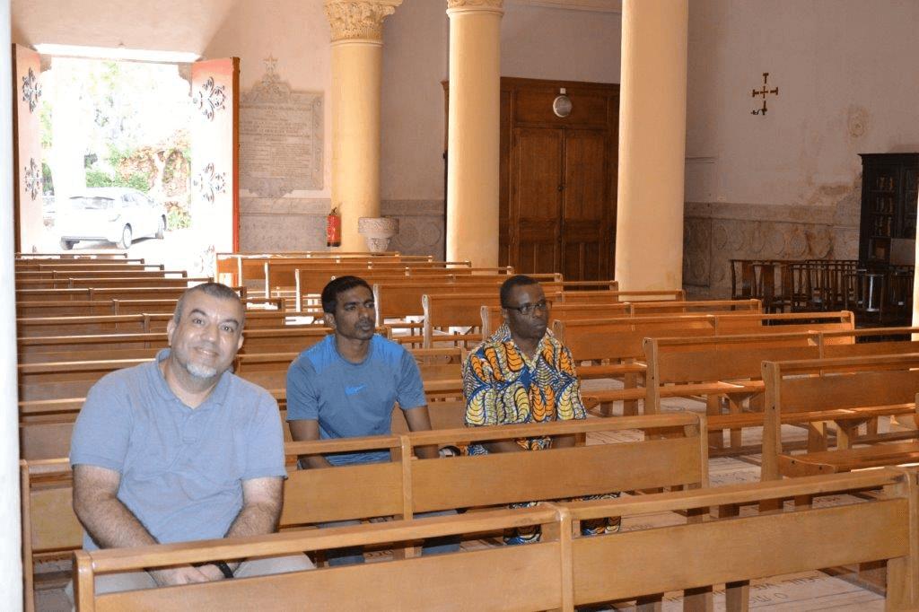 De la gauche à la droite: Didier, Emile et Laurent - novices